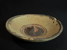 Ancient Greek Daunian terracotta phiale offer bowl - 162 x 42 mm