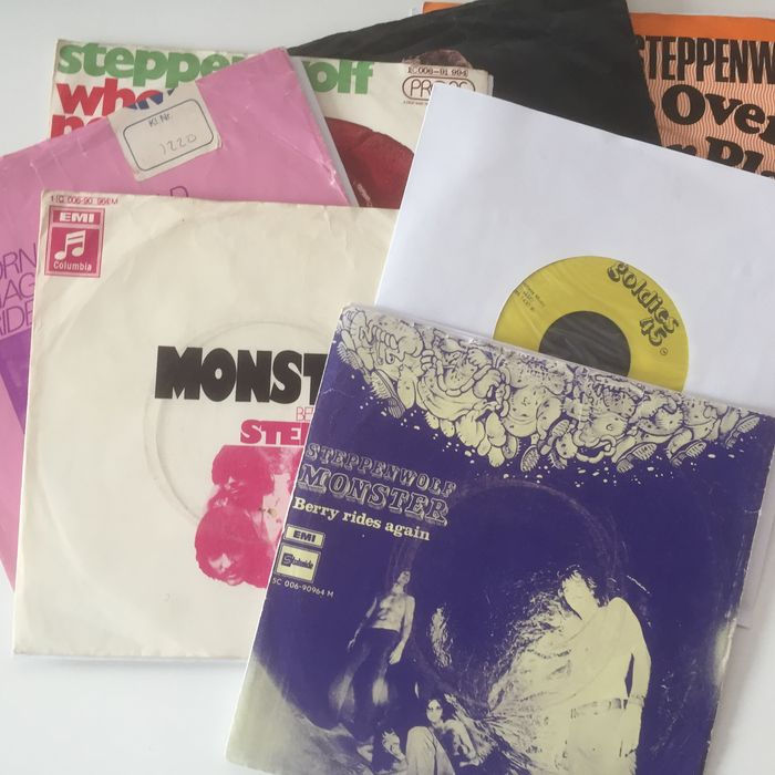 Steppenwolf, wonderful collection of 7 (picture sleeve) seven inch singles superb selection by hardly offered legendary band