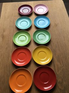 10 cups and saucers tea/coffee multi-colour Dibbern