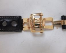 Chopard 18 kt gold clasp with blue leather strap