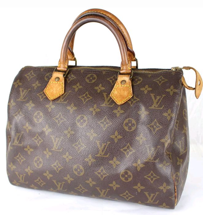 louis vuitton speedy 30 handtasche catawiki. Black Bedroom Furniture Sets. Home Design Ideas