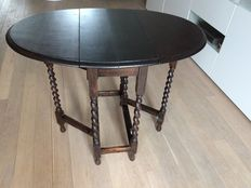 Oak wood English Gateleg table, England, second half of 20th century
