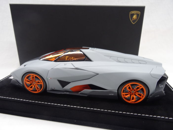 mr collection models chelle 1 18 lamborghini egoista gris catawiki. Black Bedroom Furniture Sets. Home Design Ideas