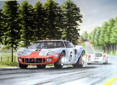 """""""Te Final Lap"""" - Ford GT40 #6  Le Mans 1969 - Ickx/Oliver"""