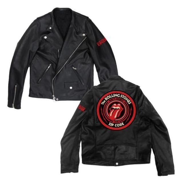 "The Rolling Stones  ""Leather Motor Tour Jacket""  -  Very Limited & Numbered Edition Of Only 400 Copies Worldwide  -  In Mint Condition !!"