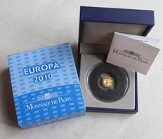 France: 5 Euro 2010 1100 Years of Cluny Abby with certificate - gold