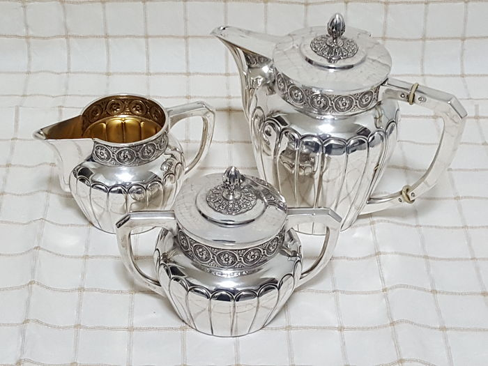 Silver coffee service late art deco spain ca 1935 1945 - Art deco espana ...