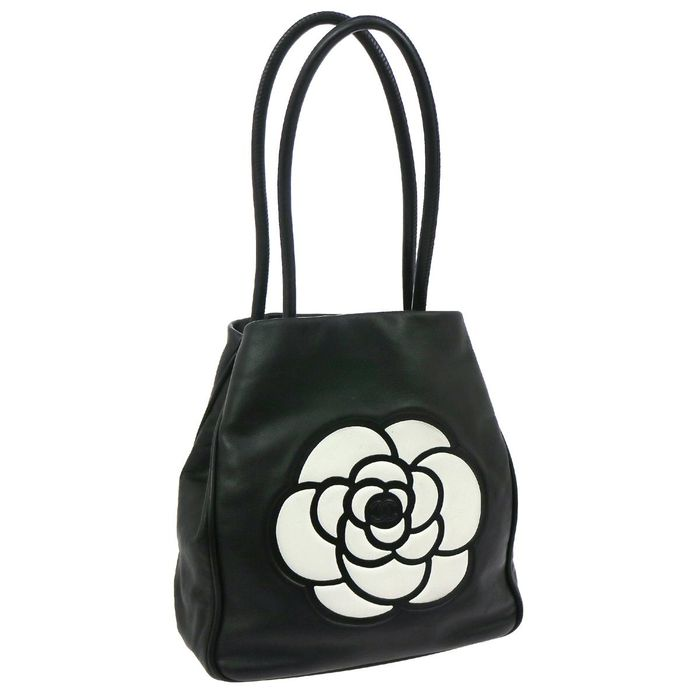 chanel camelia shopper tote