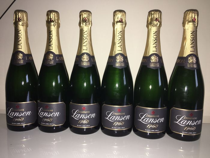 Champagne Lanson Black Label Brut – 6 bottles.