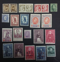 Belgium 1863/1932 - Selection stamps - OBP 13/352