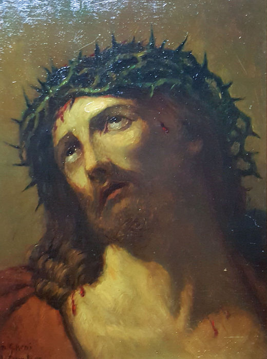 Antoon van Domburg (After Guido Reni) - Jesus Christ with the crown of  thorns - Catawiki