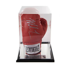 Signed Iron Mike Tyson Boxing Red Glove in Acrylic Case - Heavy Weight Champion