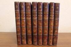 J . Michelet - Histoire de France - 8 volumes - no date (late 19th century)
