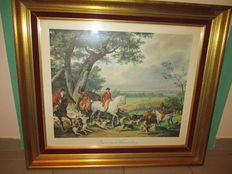 Carle VERNET - English hunting frame - 80 cm by 70 cm