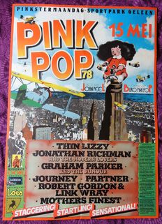 Thin Lizzy 1978 PINKPOP Festival Concert Poster