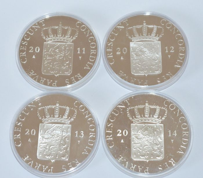The Netherlands – Ducat 2011, 2012, 2013 and 2014 – silver