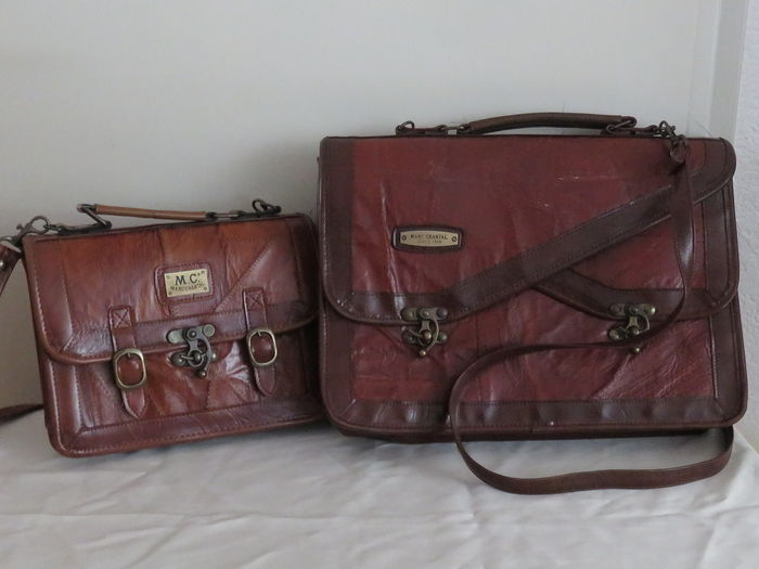 a781ee406ae13 Lot of 2 - Marc Chantal since 1966 - briefcase and smaller briefcase ...