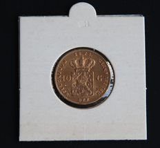 The Netherlands - 10 Guilder coin - 1875 - Willem III - gold