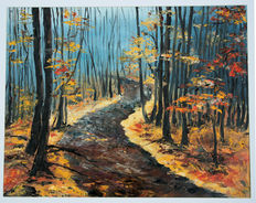 Julia Kuzmich - Forest path in Autumn