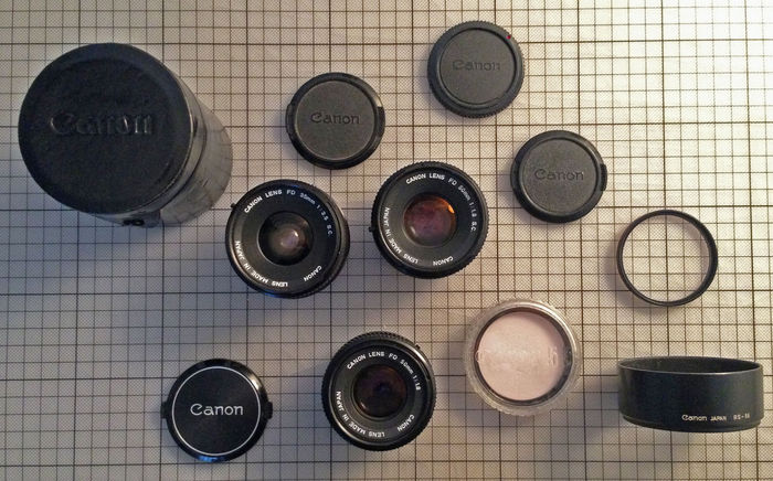 Canon FD lenses and accesoires