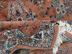 Sarough - 287 x 180 cm - oriental rug in dusky pink - in beautiful condition, virtually unused, superb condition.