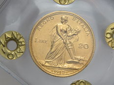 "Italy, Kingdom – 20 lire 1912 ""Italy with plough"" – Victor Emmanuel III – gold"