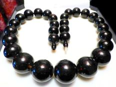 Dark Cherry amber necklace with big beads