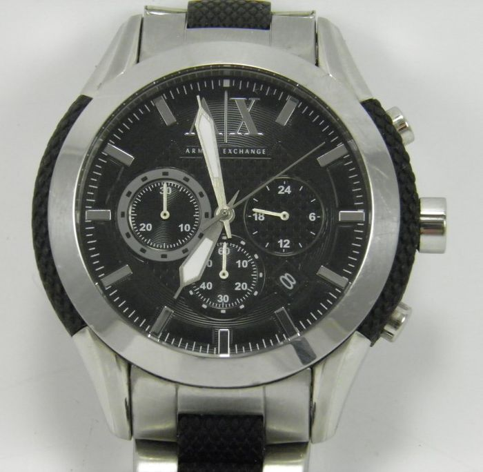 chronographe armani exchange ax 1214 montre bracelet homme catawiki. Black Bedroom Furniture Sets. Home Design Ideas