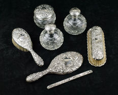 Sterling silver dressing table set by Pedro Duran - Spain - From the 30/40s