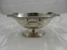 Large and heavy silver sauce bowl, Art Deco, foreign work, ca. 1930