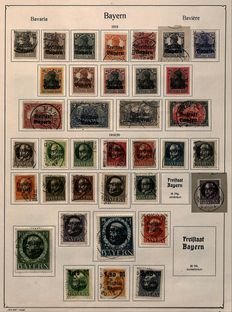 Bavaria and Danzig 1868 to 1938 - 2 small selections on album sheets