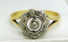 Diamond Cluster 18ct Gold Ring