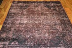 Persian carpet, vintage short-pile hand knotted patchwork carpet, modern design