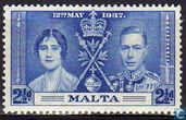 Postage Stamps - Malta - Coronation of George VI