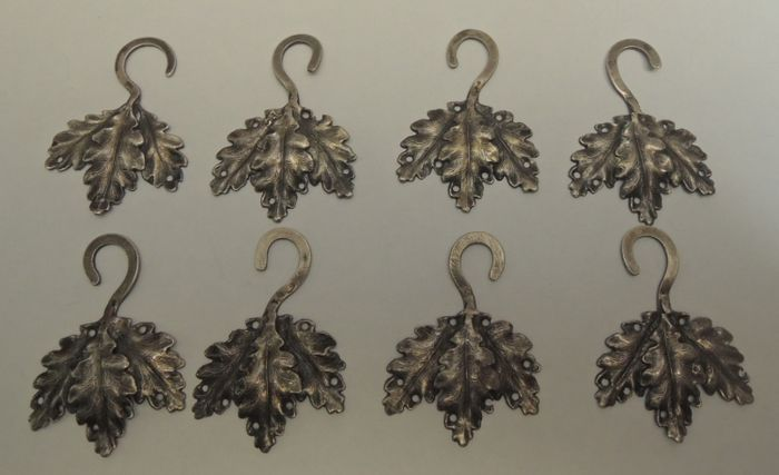 antique silver christmas decorations eight pieces austria hungary 1867 1922 - Antique Silver Christmas Decorations