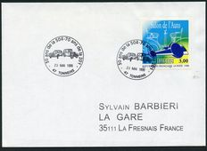 France 1998 - Variety centenary of the fair of the car without the colour red, Signed and with certificate Calves - Yvert no. 3186a