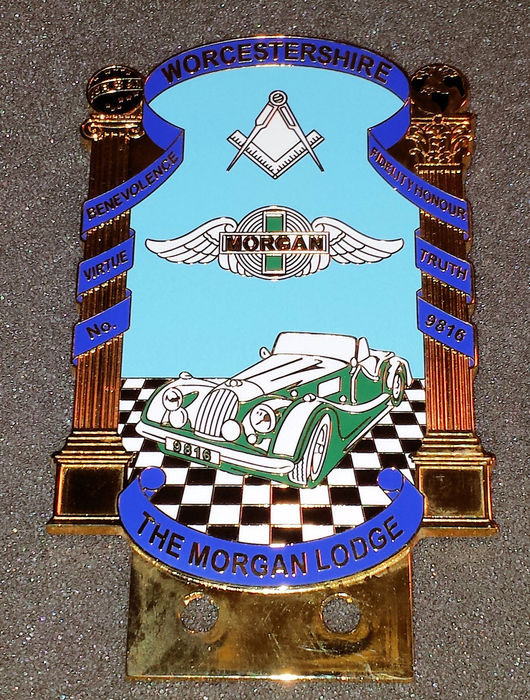 Morgan car badge - Worchestershire The Morgan Lodge - eind 20e eeuw