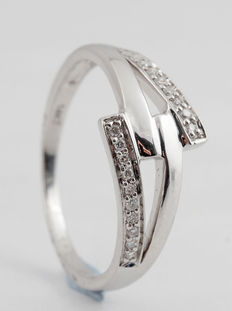 14kt diamond ring total 0.08ct