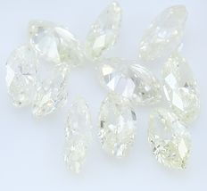 10 Diamonds 1.48 ct  - Pear shape