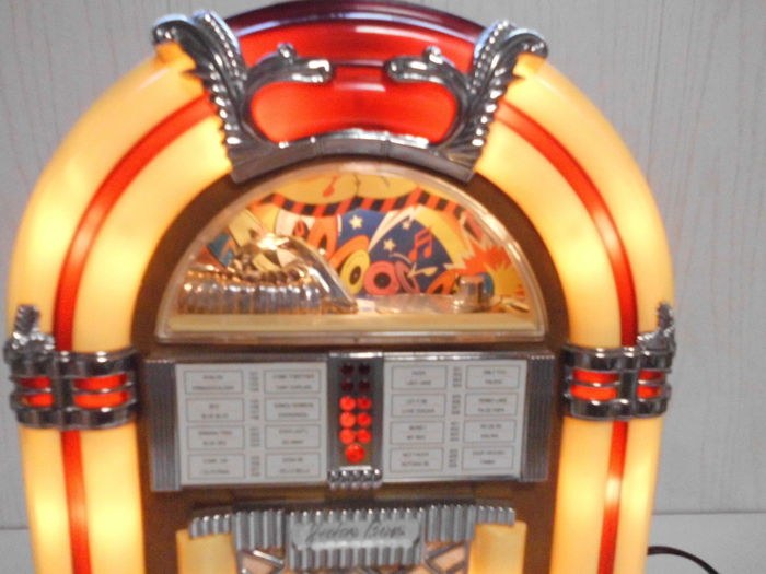 radio cassette recorder in the shape of a jukebox with. Black Bedroom Furniture Sets. Home Design Ideas