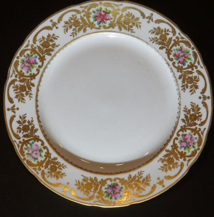 Imperial porcelain factory St. Petersburg - plate made of Russian porcelain