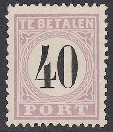 Suriname 1886 – Postage due stamp – NVPH P7 in type IV