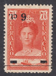 Curaçao 1929 – Help issue with inverted overprint – NVPH 100f