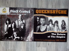 Lots of 4 Hardrock Metal Albums, The Black Crowes  ‎– Trump Plaza Hotel, Atlantic City 1990 180 Grams, Queensrÿche – The Return Of The Empire (Live In Ludwigsburg 1990 Vol. II) Color Red Translucent, Thrashed From The Start Volume 1 and 5