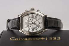 CALVANEO 1583, Prestige Diamond – Mother of pearl dial with 11 diamonds – Men's wristwatch – New.