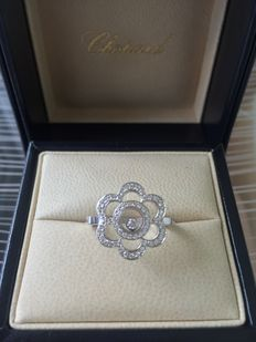 Chopard — 'Happy Diamond Flower' ring, new, original packaging material, with certificate — Size: 53