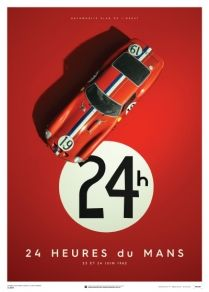 LE MANS 1962 Ferrari Collection fine art print - Ferrari 250 GTO #3705 –  70 x 50 cm 909/ 1000 Pcs.