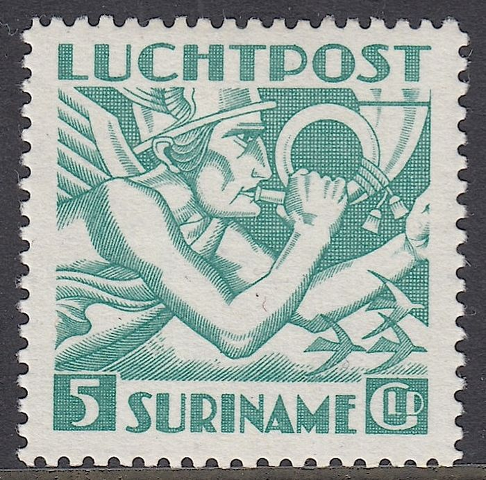 Surinam 1941 - Mercury head, Indian print - NVPH LP18