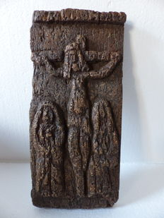 the Christ on the cross - 18th century wood (fir)