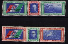 Italy - 1933 North Atlantic Flight Apparecchio I-LEON - Sassone S1509, Mi. 445/6